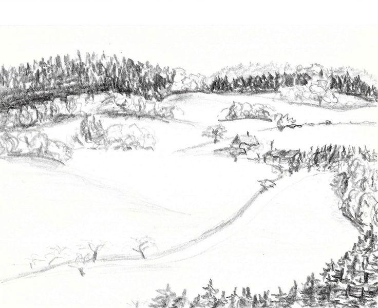 Zeichnung, Sächsisches vogtland, Martha krug, Zeichnungen, Sachsen