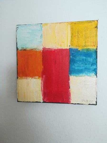 Abstrakt, Quadrat, Gefühl, Ölmalerei, Malerei