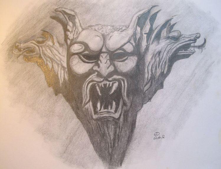 Bleistiftzeichnung, Dekoration, Vampir, Zeichnungen