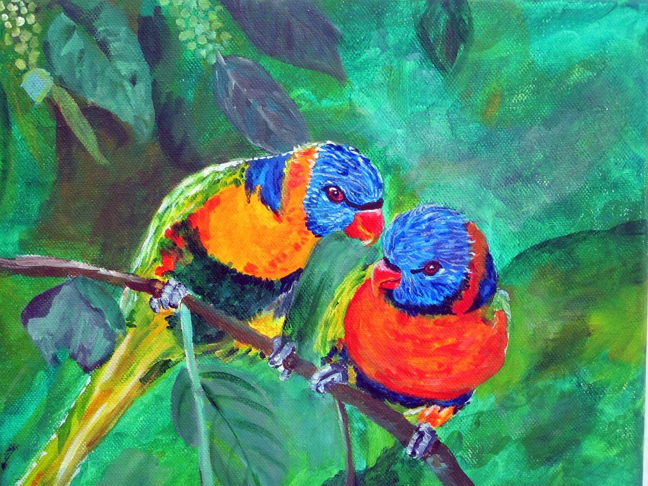 Tierliebe Ausprobieren Meer Acrylmalerei Tiere Von Cuauhtemoc