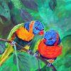 Natur, Vogel, Acrylmalerei, Tiere