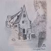 Reiseskizze, Haus, Architektur, Zeichnungen