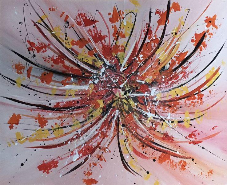 Malerei, Spachteltechnik, Malerei abstrakt, Bunt, Gemälde