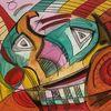 Kunst bayern, Acryluntermalung, Skizze, Abstract fantasy