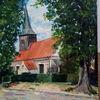 Baum, Altes gebäude, Kirche, Malerei