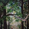 Uhu, Wald, Malerei, Einklang