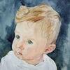 Portrait, Mischtechnik,