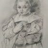 Alte meister, Mädchen, Peter paul rubens, Zeichnung