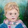 Staunen, Portrait, Malerei