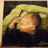 Josiah, Baby, Portrait, Malerei