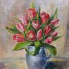 Blumenstrauß, Vase, Rote blumen, Schöne blumen