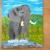 Abstrakte malerei, Tiere, Landschaft, Malerei