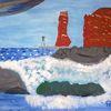 Abstrakte malerei, Landschaft, Malerei,