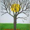 Landschaft, Baum, Abstrakte malerei, Malerei