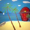 Strand, Palmen, Abstrakte malerei, Meer