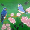 Tiere, Vogel, Landschaft, Malerei