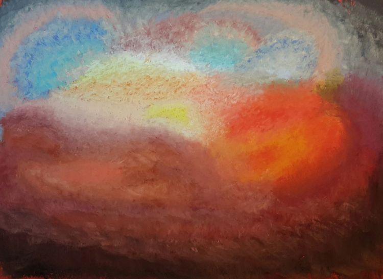 Abstrakt, Leuchten, Bunt, Malerei