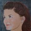 Frau, Portrait, Audrey tautou, Malerei