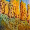 Wald, Fantasie, Felsen, Malerei