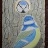Blaumeisen, Nistkasten, Holz, Malerei