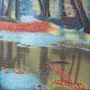 Wasser, Laub, Spessart, Wald
