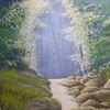 Wald, Bach, Licht, Ufer
