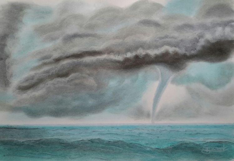 Tornado, Wolken, Meer, Malerei