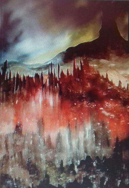 Himmel, Felsen, Wolken, Berge, Passatwolken, Malerei
