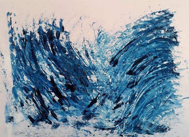 Explosion, Umwelt, Abstrakt, Zeichenpapier, Meer, Zerstörung