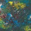 Malerei, Abstrakt, Gelb, Acrylmalerei