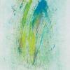 Wasserfontäne, Ölfarben, Teich, Grün