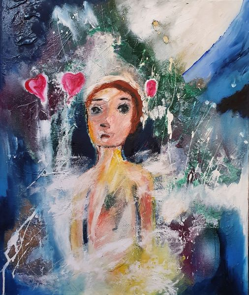 Herz, Bleiben, Malerei