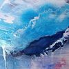 Abstrakt, Blau, Himmel, Malerei