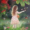 Tau, Sommer, Mädchen, Natur