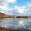 Wasser, Wolken, Baggersee, Welle