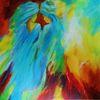 Sahara, Frau, Fantasie, Acrylmalerei