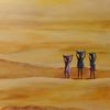 Kinder, Wasser, Wüste, Landschaft