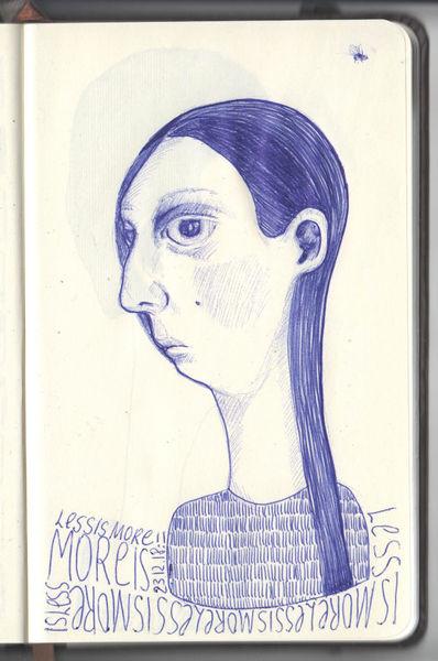 Blau, Kopf, Fliege, Zeichnung, Zeichnungen