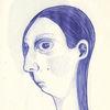 Kopf, Fliege, Zeichnung, Blau