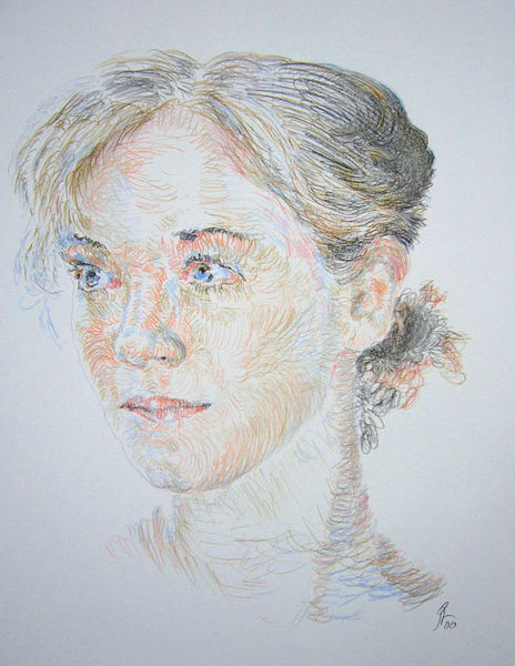 Farben, Portrait, Kopf, Zeichnungen, Menschen