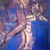 Tonpapier, Blau, Pastellmalerei, Malerei