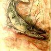 Pastellmalerei, Zander, Fluss, Malerei