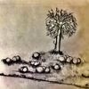 Mann, Nebel, Baum, Malerei