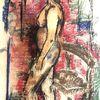Fragender blick, Tonkarton, Pastellmalerei, Malerei