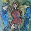 Flamenco, Macho, Tanz, Malerei