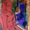 Schminke, Pastellmalerei, Lange haare, Malerei