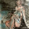 Moor, Hund, Pastellmalerei, Malerei