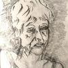 Traurig, Ohrringe, Grafit, Zeichnungen