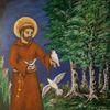 Pastellmalerei, Franz von assisi, Heilig, Natur