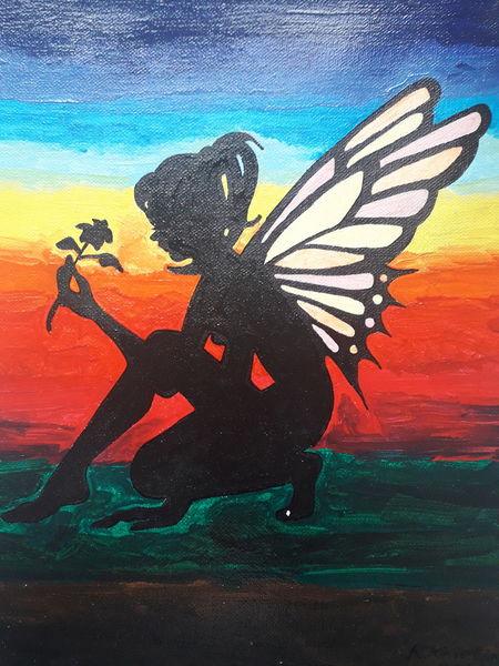 Bunt, Elfen, Sonnenaufgang, Malerei